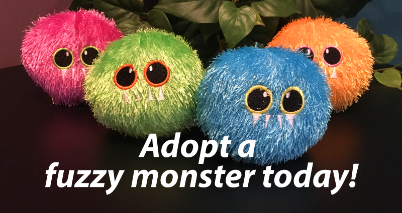 Adopt a fuzzy monster today!